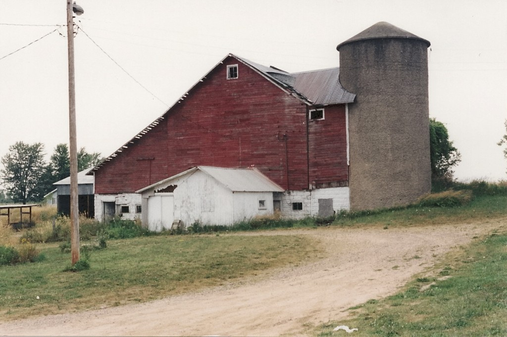 The red David Falconer barn of my father near Scottville, Michigan. Photo by Barbara Newhall