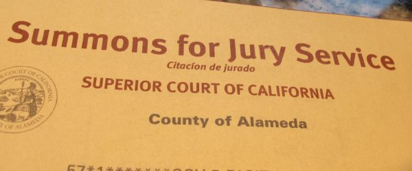 Barbara Falconer Newhall was summoned for jury duty.. Photo by Barbara Newhall
