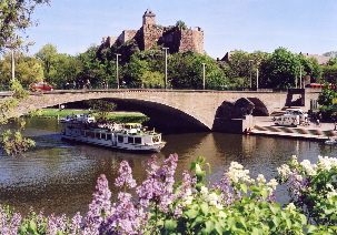 Halle, Germany, today with castle and Salle River c 2009 Stadt Halle, Salle