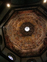 The frescoed ceiling of the Duomo, Florence