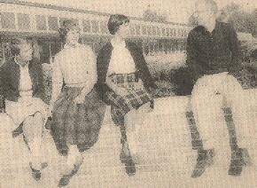 Plaid skirts, loafers, crew neck sweater, freshly ironed shirts -- these Birmingham (Michigan) High School girls knew what to wear to a sock hop