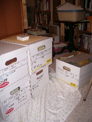 Five of the 28 boxes. c 2009 B.F. Newhal