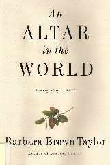 an altar on the world book dust jacket