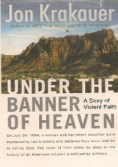 book jacket under the banner of heaven by jon krakauer