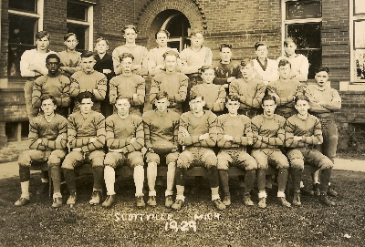 The-Scottville-Michigan-high-school-football team-1929. Photo by H.J. Hansen