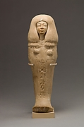 Religious art goes way back: Shabti of Isis, Singer of the Aten Date:ca. 1353–1336 B.C. Medium: Limestone Accession Number: 66.99.38 Location: The Met Fifth Avenue in Gallery 122