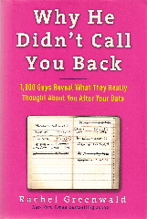 book jacket for Why He Didn't Call You Back by Rachel Greenwald.
