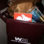 children's book reviewer barbara falconer newhall has tossed a children's book in the trash. Photo by BF Newhall