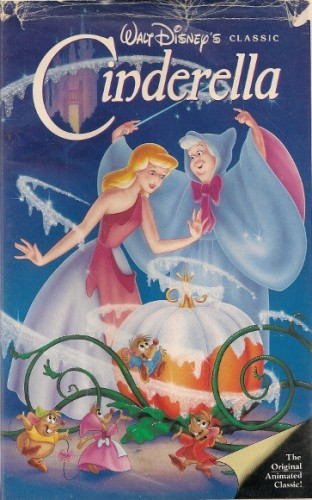 cover of the vhs version of the disney movie, cinderella