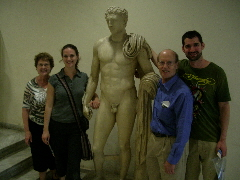 PHOTO SEVEN. At the National Archeological Museum, Athens. Photos c 2009 B.F. Newhall