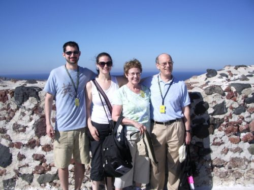 newhall family on greek island of santorini. Photo by BF newhall