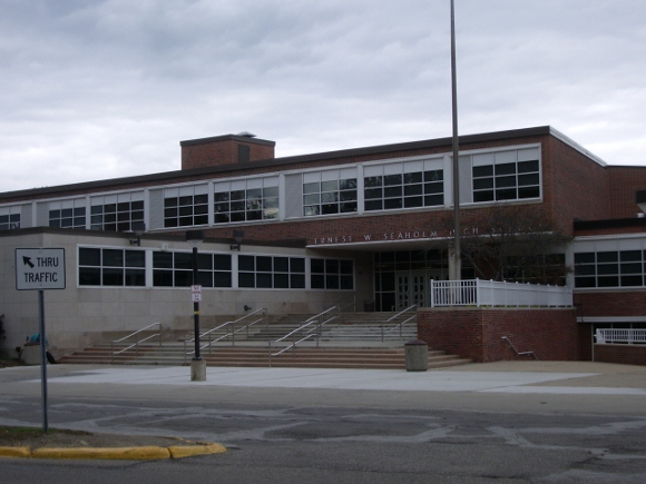 Seaholm High School Birmingham Michigan exterior. photo by BF Newhall