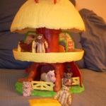 ewok hut toy about 16 inches tall with ewok characters. Photo by BF Newhall