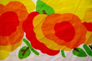 Marrimekko sheet from 1970s. Photo by BF Newhall