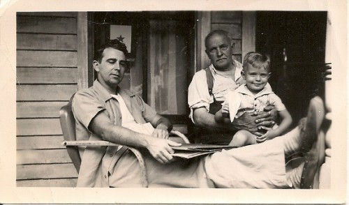 A grandfather, father and grandson, circa 1941. Photo by Tinka Falconer