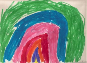 rainbow painting by a 5-year-old girl. photo by BF Newhall