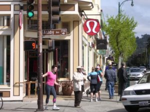 The Lululemon storefront Berekely, CA. Photo by BF Newhall