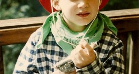 Peter, age 6, dressed as cowboy for Halloween. Photo by BF Newhall