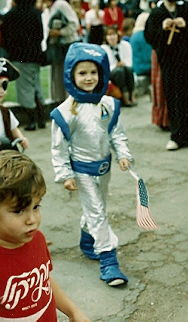 christina newhall as an astronaut. photo by bf newhall