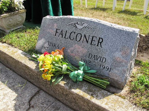 Tinka Falconer's gravesite. Photo by Barbara Falconer Newhall