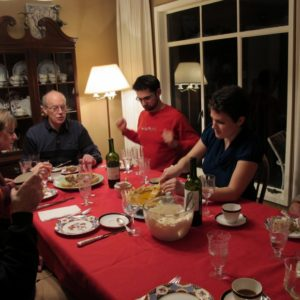 Family at Thanksgiving dinner table. Photo by Barbara Falconer Newhall