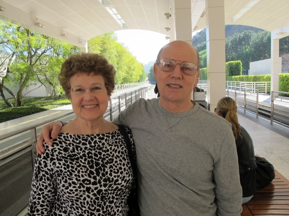 Jon and Barbara Newhall at Getty Museum tram, 2012. Photo by Christina Newhall