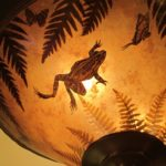 """Pond Scene"" ceiling shade by Lynn Duncan. Photo by BF Newhall"