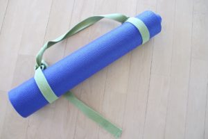 Yoga mat and yoga strap. Photos by BF Newhall.