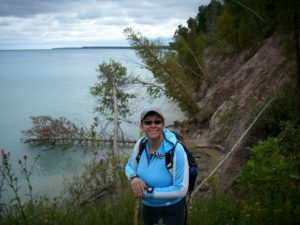 Loreen Niewenhuis trekking between Manitowoc and Milwaukee, WI. niewenhuis photo