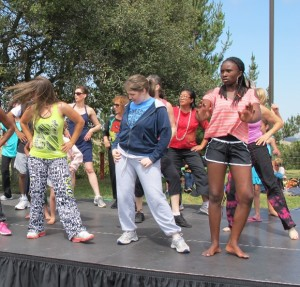 zumba dancing at the Hills. Photo by BF Newhall