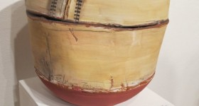 Ceramicist Nancy Selvin's Small Pot with Markings, 2012