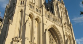 Facade of the National Cathedral, Washington, DC. Photo by BF Newhall
