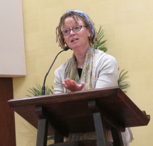 anne lamott at the reading for her book help thanks wow. photo by BF Newhall