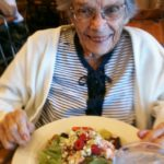 Tinka Falconer enjoys Nordstrom Cafe chicken and berry salad. Photo by BF Newhall.