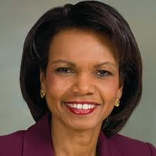condoleezza rice has a thin upper lip.