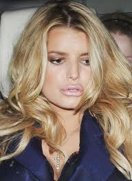Jessica Simpson with puffy lips