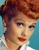 Lucille Ball with lipsticked lips