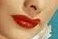 Lucille Ball's red lips and hair