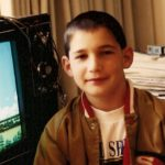 Ten-year-old Peter Newhall has just won at Final Fantasy I in 1991. Photo by BF Newhall