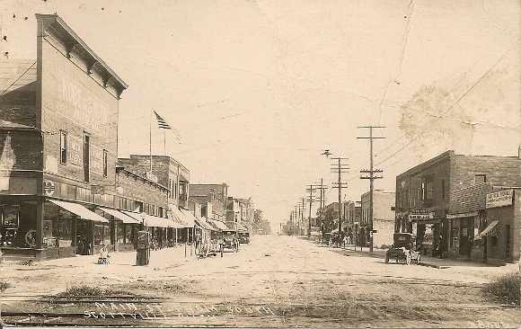 Main Street, Scottville, Michigan, from the south
