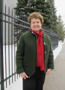 Writer Barbara Falconer Newhall wears her vintage Austrian Walkjanker in Minnesota 2013. Photo by Jon Newhall.