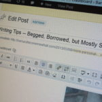 A WordPress blog post edit page. Photo by BF Newhall