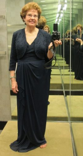 A navy mother of the groom gown with lace bolero is $198 Nordstrom. Photo by BF Newhall