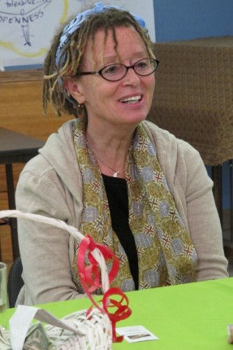"Anne LaMott at a reading of her book ""Help, Thanks, Wow."" Photo by BF Newhall"