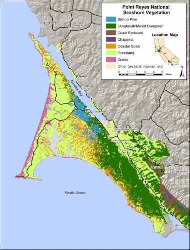 map of point reyes.