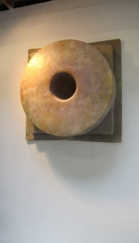 Doughtut-shaped wall sculpture by Curtis H. Arima. Photo by BF Newhall