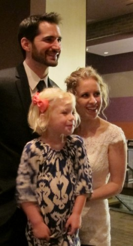 A Minneapolis bride and groom with a young cousin, May, 2013. Photo by BF Newhall