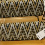 A gold, silver and black evening bag with chevron design at Macy's for $58. Photo by BF Newhall