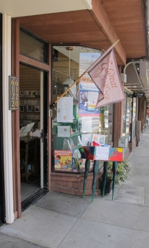 The entrance to the bookstore A Great Good Place for Books in the Montclair District of Oakland, CA. Photo by BF Newhall