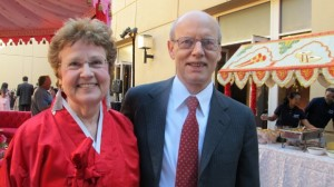 Jon and Barbara Newhall at Indian wedding in San Francisco Bay Area. BF Newhall photo